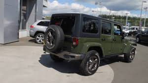 jeep army green 2016 jeep wrangler unlimited sarge green gl294566 mt vernon