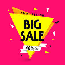 sale with flat 40 creative typographical background