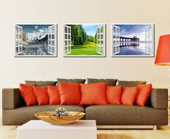 vancouver canada golf course view picture window wall art home