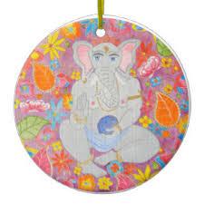 ganesh painting ornaments keepsake ornaments zazzle