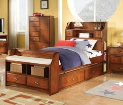 bedroom full size storage bed with bookcase headboard in kh