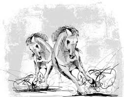 sketch of horses running royalty free stock image storyblocks