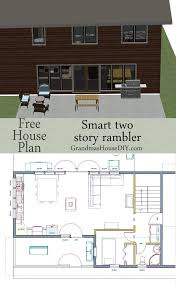 free house plan two story rambler with a huge kitchen island