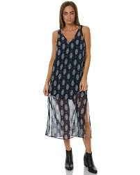 the fifth label lights shine on womens midi dress navy floral
