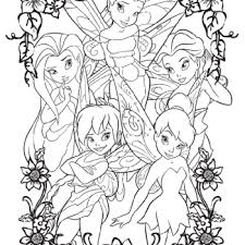 tinkerbell friends free coloring pages art coloring pages