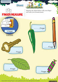 finger measure math worksheet for grade 1 free u0026 printable