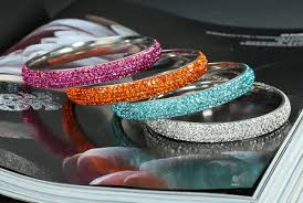 bangle bracelet with crystal images Stackable stainless steel bangle bracelets never go out of style jpg