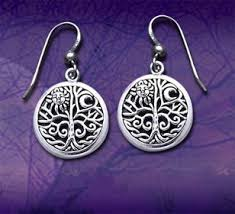 ancient tree of with sun and moon symbol filigree