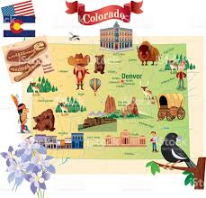 Maps Of Colorado Cartoon Map Of Colorado Stock Vector Art 472377825 Istock