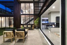 courtyard home designs modern home designs unique modern living spaces with industrial