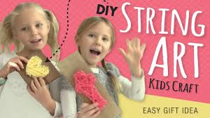 easy diy string art room decor kids crafts by three sisters