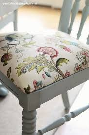dining table chair reupholstering how to recover a dining room chair easily annie sloan chalk paint