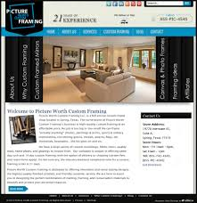 Home Design Social Network Picture Worth Custom Framing Houston Web Design Social Media