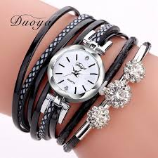 vintage bracelet watches images Duoya brand bracelet watches for women luxury silver crystal clock jpg