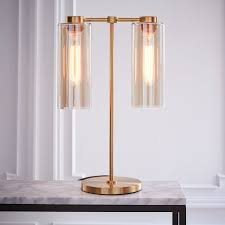 glass cylinder table lamp west elm