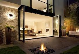 natural modern design small garden to beautify and interior beauty