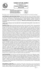 free sle resume exles resume for juvenile detention officer http www resumecareer