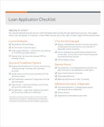 application checklist templates 8 free word pdf format download