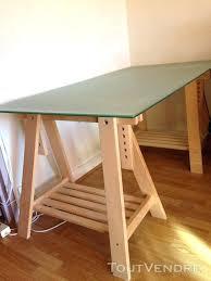 plateau verre bureau bureau bois et verre bureau plateau verre dpoli pieds architecte