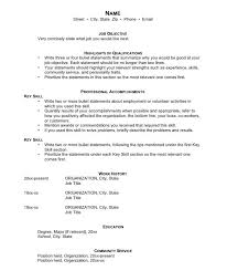 Key Skills Examples For Resume by Free Examples Of Resumes General Resume Examples General Labor