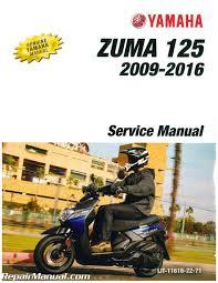 2009 u2013 2016 yamaha yw125 zuma 125 scooter service manual
