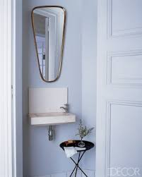 small powder room sinks powder room small furniture paris apt elle me i like the blueish
