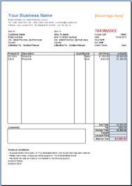 Excel Invoice Template 2003 Sle Tax Invoice Excel Rabitah