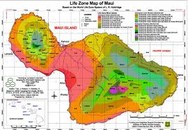 Pacific Time Zone Map Maui Climate Annual Rainfall And Life Zone Map Maui Real Estate