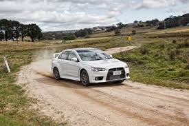 mitsubishi lancer evolution 2015 mitsubishi lancer evo final edition lands goauto