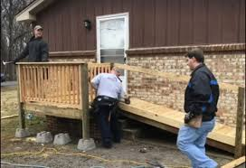 Wheel Chair Ramp Cmcss Employee Helps Build Wheelchair Ramp For Disabled Student
