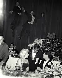 marilyn monroe pictured here with sammy davis jr attending a