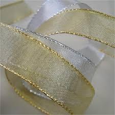 metallic ribbon metallic edge wired ribbon 38mm