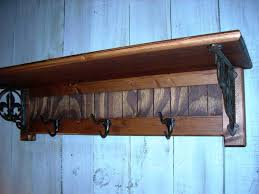 ideas shelf with coat hooks wall mount coat rack black wall