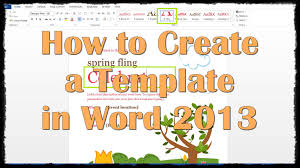 resume templates word 2013 how to create a template in word 2013 youtube