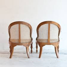 Hanging Cane Chair India Pair Of Anglo Indian Satinwood Caned Armchairs India Or Sri Lanka
