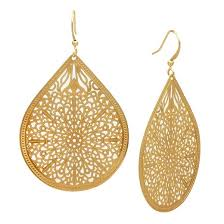 ear ring photo filigree teardrop drop earring gold target