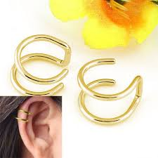 gold clip on earrings aliexpress buy clip on earrings no pierced non piercing