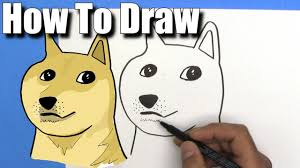 How To Make Doge Meme - how to draw doge easy step by step youtube