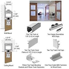 Ceiling Mount Door Track by Crl70 Series Single Sliding Door Wall Or Ceiling Mount Kit For