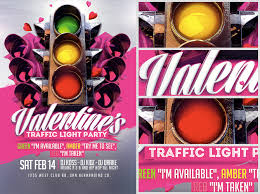 valentine u0027s traffic light flyer template 2 flyerheroes
