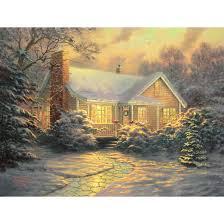 kinkade cottage prints