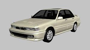 mitsubishi legnum 3d model mitsubishi galant sedan car cgtrader