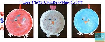 chicken hen paper plate craft fspdt