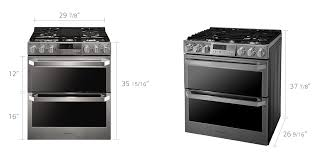 Gas Cooktop Dimensions Lg Lutg4519sn Lg Signature Gas Double Oven Slide In Range Lg Usa
