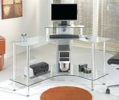 Black And Chrome Computer Desk Glass And Chrome Computer Desk Medium Size Of Glass Desk Office