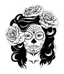 sugar skull with roses nat hanss