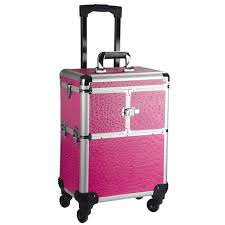 professional makeup artist bags brand aluminum frame 4 wheels trolley bag makeup box beauty