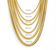 gold chain necklace snake images Mens womens boys 18k gold plated stainless steel flat snake jpg