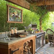 The  Best Outdoor Kitchens Ideas On Pinterest Backyard - Backyard kitchen design