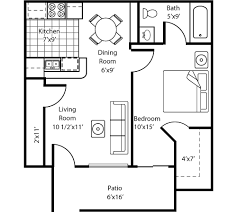 one bedroom home plans one room one bed one bath floor plan with gargare one bedroom